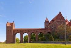 Castillo de Marienwerder (1350) de la orden teutónica Kwidzyn, Polonia Imagen de archivo libre de regalías