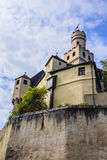 Castillo de Marksburg cerca de Coblenza, Alemania Imagen de archivo