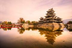 Castillo de Matsumoto, Japón Imagenes de archivo