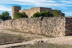 Castillo DE Medinaceli in één van de unpopulated provincies van Europa Soria, Spanje royalty-vrije stock afbeeldingen