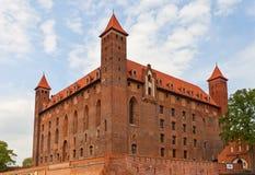 Castillo de Mewe (XIV c ) de la orden teutónica Gniew, Polonia Foto de archivo libre de regalías