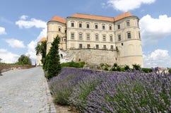 Castillo de Mikulov en República Checa Foto de archivo