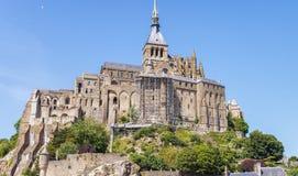 Castillo de Mont Saint Michel en Normandía, Francia Imagen de archivo