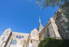 Castillo de Mont Saint Michel en Normandía, Francia Fotografía de archivo libre de regalías