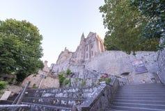 Castillo de Mont Saint Michel en Normandía, Francia Foto de archivo libre de regalías