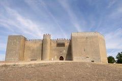 Castillo de Montealegre de Campos, región de Tierra de Campos, Vallad imagen de archivo libre de regalías