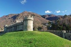 Castillo de Montebello, Bellinzona Fotos de archivo libres de regalías
