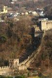 Castillo de Montebello de Bellinzona Fotos de archivo