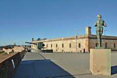 Castillo de Montjuïc Foto de archivo