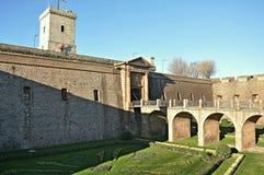 Castillo de Montjuïc Fotos de archivo