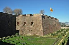 Castillo de Montjuïc Fotos de archivo libres de regalías