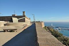 Castillo de Montjuïc Imágenes de archivo libres de regalías