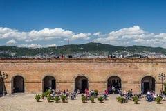 Castillo de Montjuic, Barcelona Fotos de archivo libres de regalías