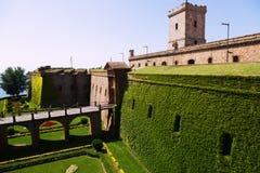 Castillo de Montjuic. Barcelona Royalty Free Stock Photos