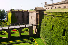 Castillo de Montjuic  in Barcelona,  Spain Royalty Free Stock Photo