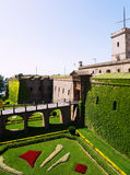 Castillo de Montjuic in summer. Barcelona Royalty Free Stock Photo