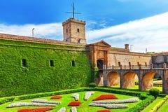 Castillo De Montjuic w Barcelona Zdjęcie Royalty Free