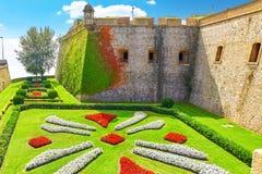 Castillo De Montjuic w Barcelona Obrazy Royalty Free