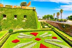 Castillo De Montjuic w Barcelona Obraz Royalty Free