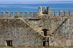 Castillo de Mumure - escalera Fotografía de archivo
