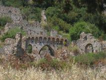 Castillo de Mystras Imágenes de archivo libres de regalías