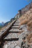 Castillo de Mystras Imagen de archivo libre de regalías