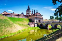 Castillo de Nesvizh en Bielorrusia imágenes de archivo libres de regalías