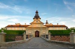 Castillo de Nesvizhsky, región de Minsk, Bielorrusia Fotografía de archivo libre de regalías