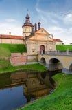 Castillo de Nesvizhsky, región de Minsk, Bielorrusia Fotos de archivo libres de regalías