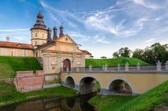 Castillo de Nesvizhsky, región de Minsk, Bielorrusia Fotos de archivo