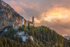 Castillo de Neuschwanstein, Baviera, Alemania Imagen de archivo libre de regalías