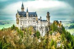 Castillo de Neuschwanstein del ejemplo Nuevo castillo de Swanstone Palacio del cuento de hadas fotografía de archivo libre de regalías