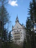 Castillo de Neuschwanstein en Baviera (vista posterior) Fotos de archivo