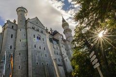 Castillo de Neuschwanstein en Hohenschwangau imagen de archivo