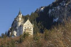 Castillo de Neuschwanstein en invierno Imagenes de archivo