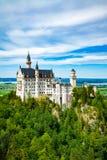 Castillo de Neuschwanstein Uno de la mayoría de los famos y del castillo hermoso en el mundo Fotos de archivo libres de regalías