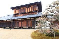 Castillo de Nijo en la estación del invierno. Fotos de archivo libres de regalías