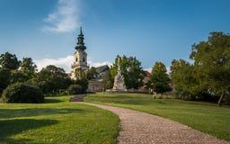 Castillo de Nitra, situado en la ciudad vieja de Nitra, Eslovaquia imagen de archivo