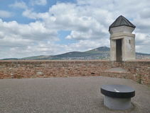 Castillo de Nitra - visión desde el castillo Imagenes de archivo