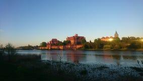 Castillo de Nogat Malbork del río Fotos de archivo libres de regalías