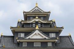 Castillo de Okayama fotografía de archivo libre de regalías