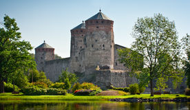 Castillo de Olavinlinna Imagenes de archivo