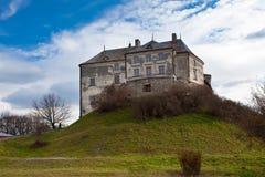 Castillo de Olesk en la región de Lviv Imágenes de archivo libres de regalías
