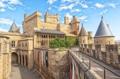 Castillo de Olite, Navarra Fotografía de archivo libre de regalías