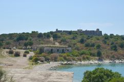 Castillo de Oporto Palermo, Albania foto de archivo