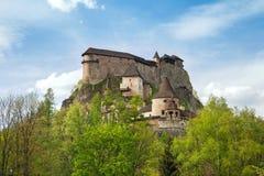 Castillo de Orava, Eslovaquia fotos de archivo