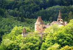 Castillo de Orava - un castillo más inferior Imágenes de archivo libres de regalías