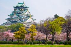 Castillo de Osaka, Japón Imagen de archivo libre de regalías