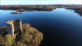 Castillo de Oughter de la quebrada Cavan irlanda metrajes
