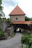 Castillo de Ozalj, Croacia fotografía de archivo